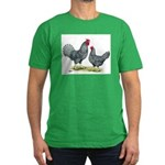Dominique Chickens Men's Fitted T-Shirt (dark)