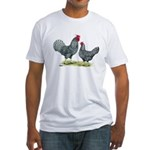 Dominique Chickens Fitted T-Shirt