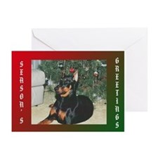 Doberman Christmas Greeting Cards (Pk of 10)