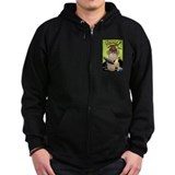 Cute Monkey with a gun Zip Hoodie