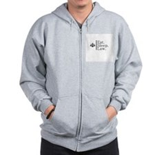 Eat. Sleep. Law. (Scales) Zip Hoodie