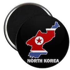 Flag Map of North Korea Magnet