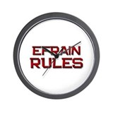 efrain rules Wall Clock