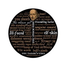 "Shakespeare Insults 3.5"" Button (100 pack)"