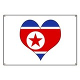 I Love North Korea Banner