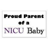 Proud Parent of a NICU Baby Rectangle Decal