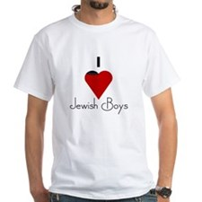 I Love (heart) Jewish Boys Shirt