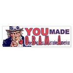 Uncle Sam on Obama Bumper Sticker (10 pk)