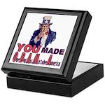 Uncle Sam on Obama Keepsake Box