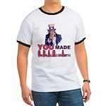 Uncle Sam on Obama Ringer T