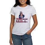 Uncle Sam on Obama Women's T-Shirt