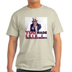 Uncle Sam on Obama Light T-Shirt