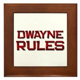 dwayne rules Framed Tile