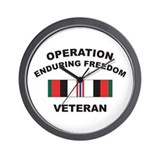 Afghanistan Veteran Wall Clock