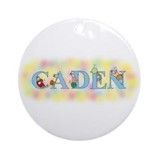 """""""Caden"""" with Mice Ornament (Round)"""