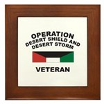 Kuwait Veteran 1 Framed Tile