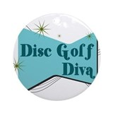 Disc Golf Diva Ornament (Round)