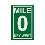 Mile Zero Key West Rectangle Magnet