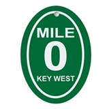 Mile Marker Zero Key West Christmas Ornament
