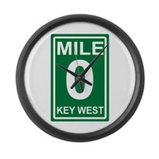 Mile Zero Key West Florida Large Wall Clock