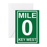 Mile Zero Key West Greeting Cards (Pk of 20)