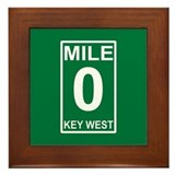 Mile Zero Key West Framed Tile