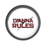dianna rules Wall Clock