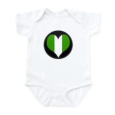 I love nigeria Flag Infant Bodysuit