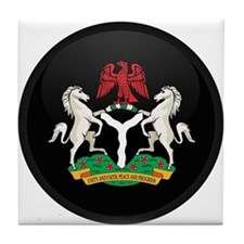 Coat of Arms of nigeria Tile Coaster