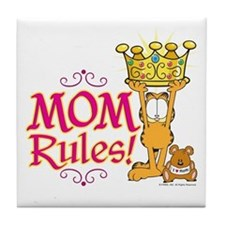 Mom Rules! Tile Coaster