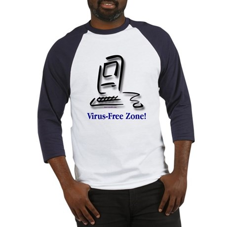 Virus-Free Zone! Baseball Jersey