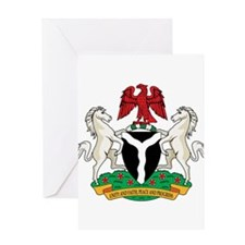 nigeria Coat of Arms Greeting Card