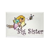 Color Bee Fairy Big Sister Rectangle Magnet