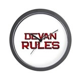 devan rules Wall Clock