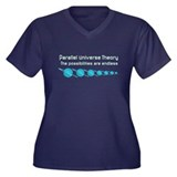 Parallel Universe Theory Women's Plus Size V-Neck