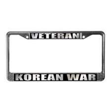 Korean War Veteran License Plate Frame