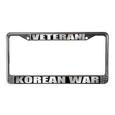 Korean War Veteran License Plate Frame