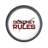 destiney rules Wall Clock