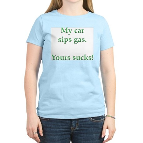 My Car Sips Women's Light T-Shirt