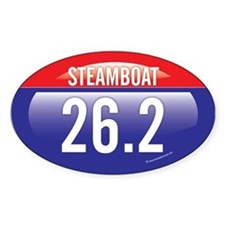 Steamboat Springs Marathon Oval Decal