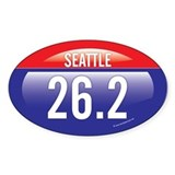 Seattle Marathon Oval Decal