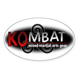 Kombat Mixed Martial Arts Gea Oval Decal