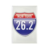 New York Marathon Rectangle Magnet