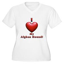 I Heart My Afghan Hound! T-Shirt
