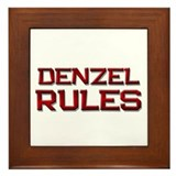 denzel rules Framed Tile