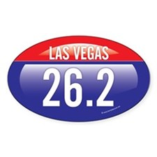 Las Vegas Marathon Oval Decal