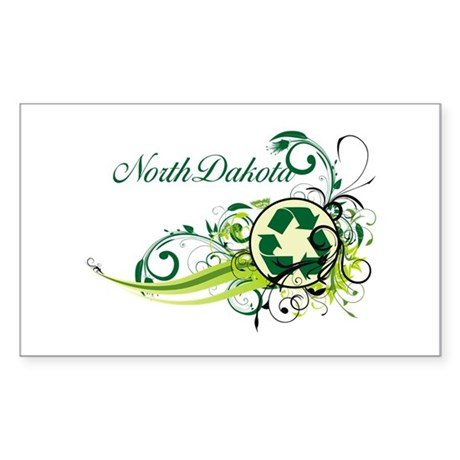 North Dakota Recycle T-Shirts and Gifts Sticker (R