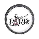 J'aime Paris Wall Clock