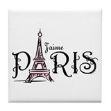 J'aime Paris Tile Coaster