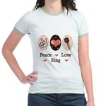 Peace Love Sing Jr. Ringer T-Shirt